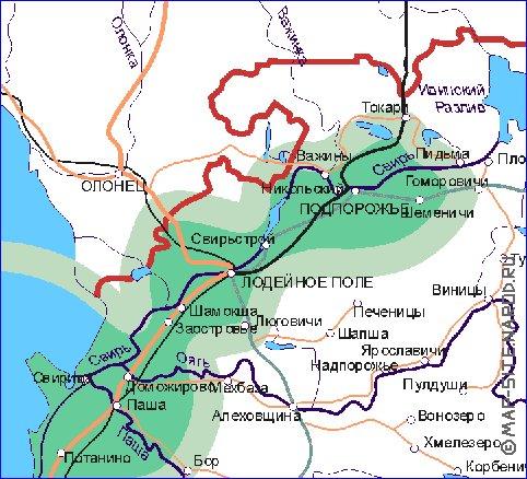 Река оять показать на карте рыболовные места