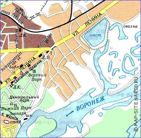 карта липецка