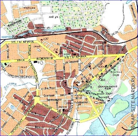 Спутниковая Карта Липецка